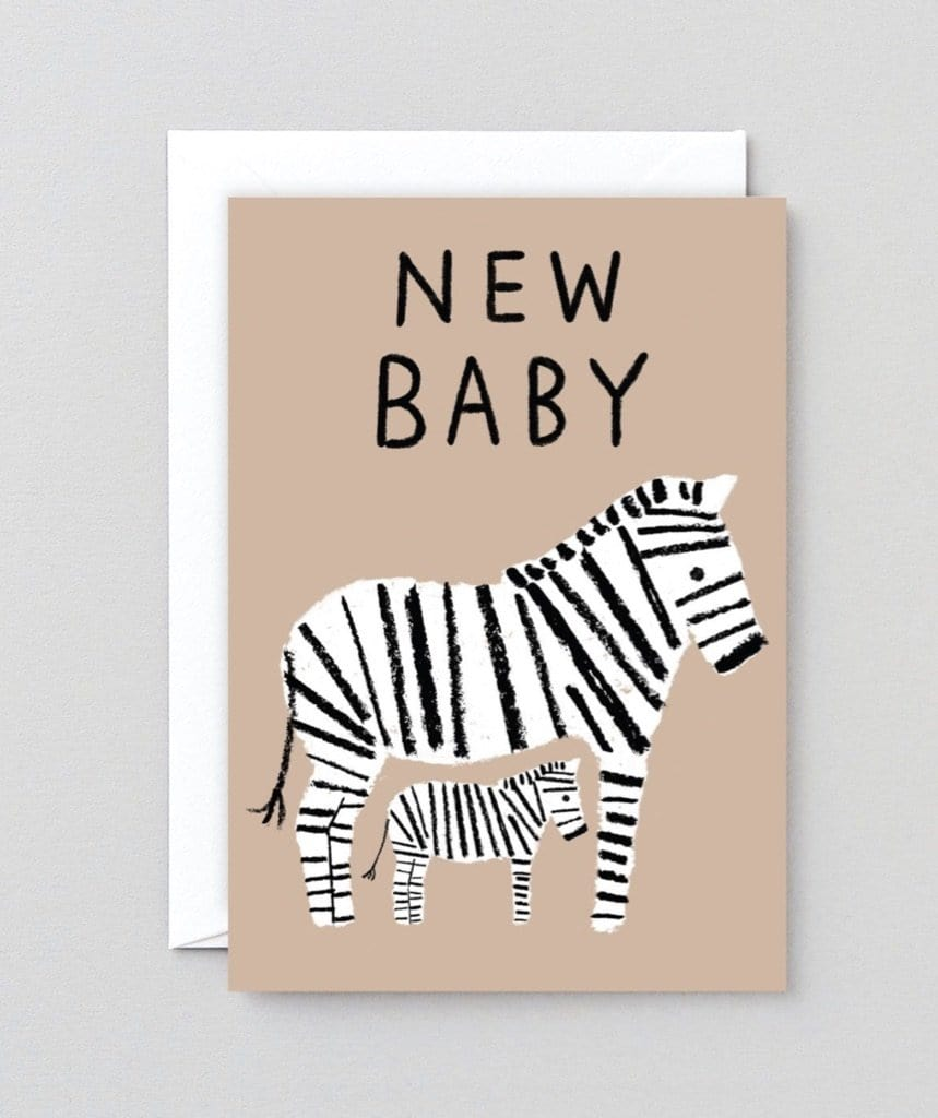 New Baby Zebra Card