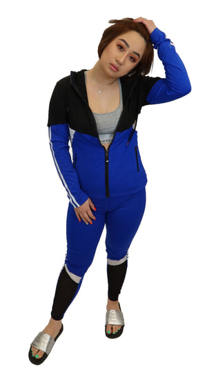 Blue 2 piece Sweatsuit