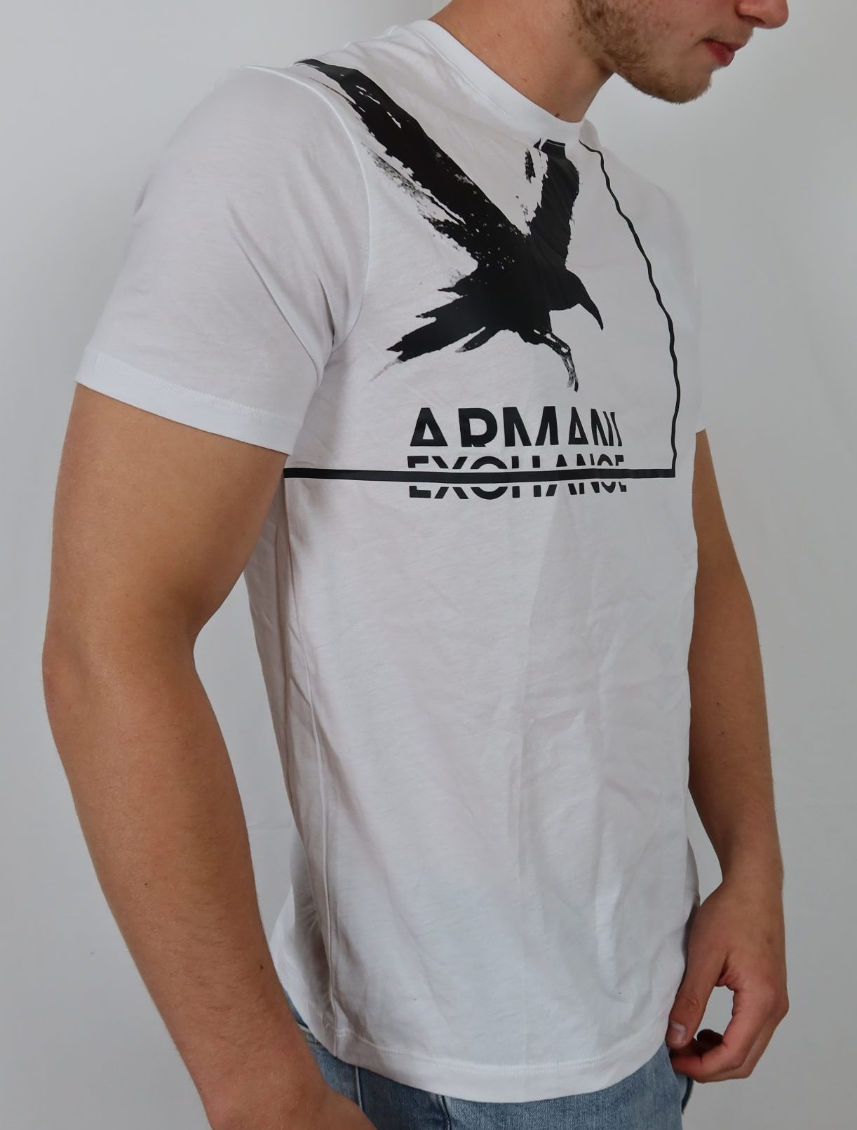 Black Bird White A/X tee