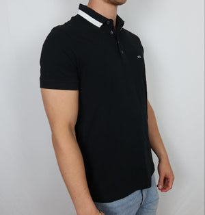 Simple Black AX collar tee