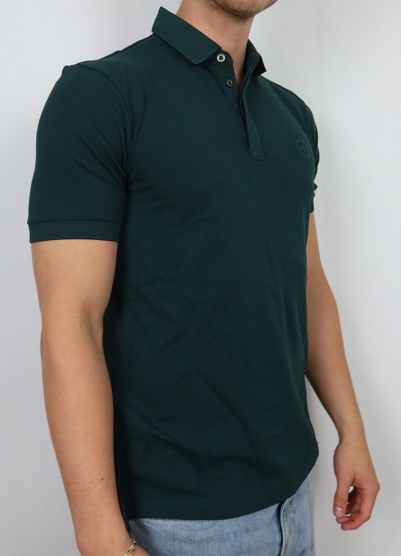 Jungle Green AX collar tee