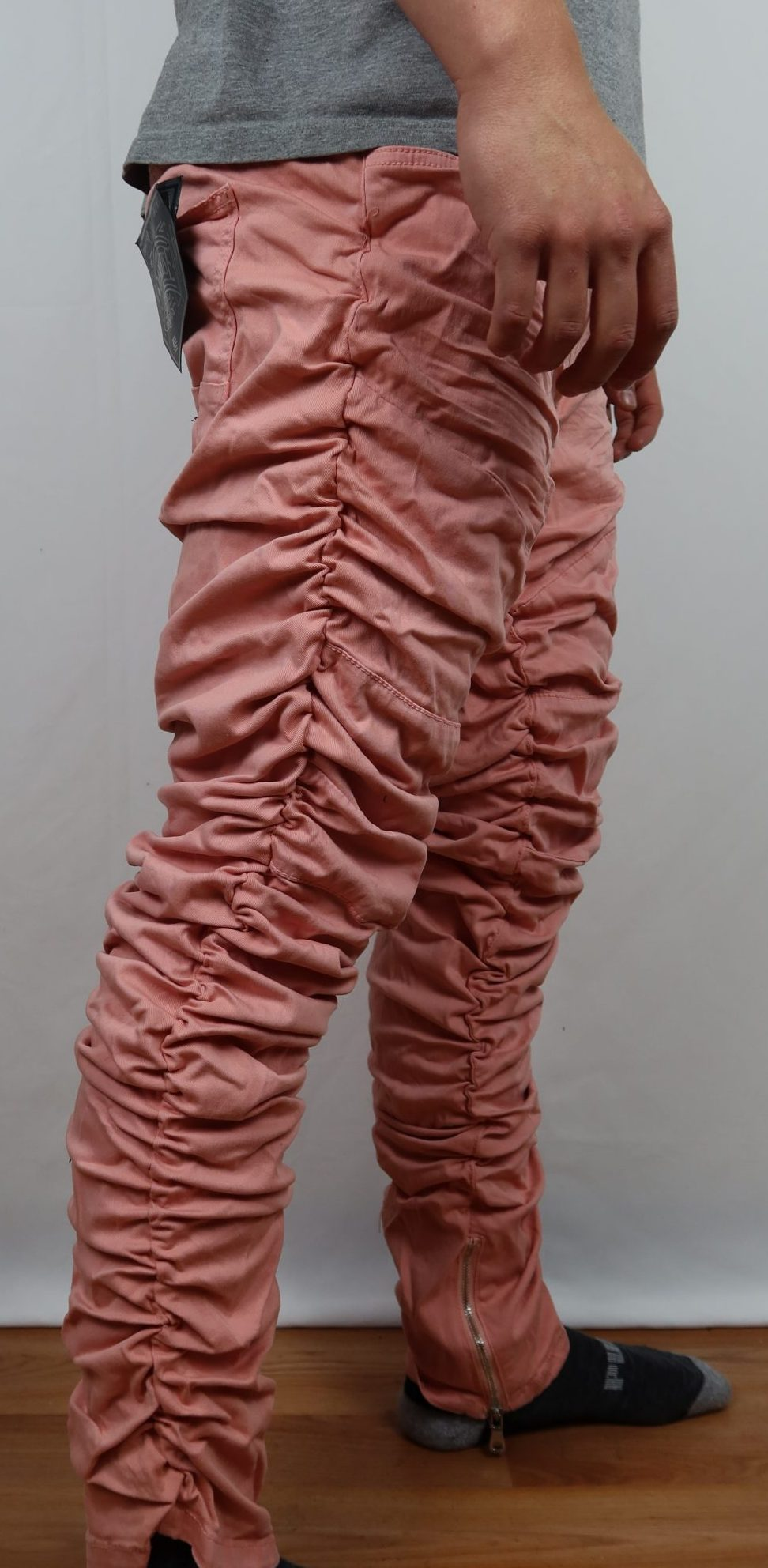 Flamingo smoke rise rippled jeans