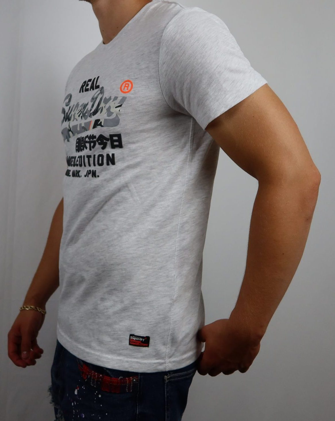 Super dry gray limited edition tee