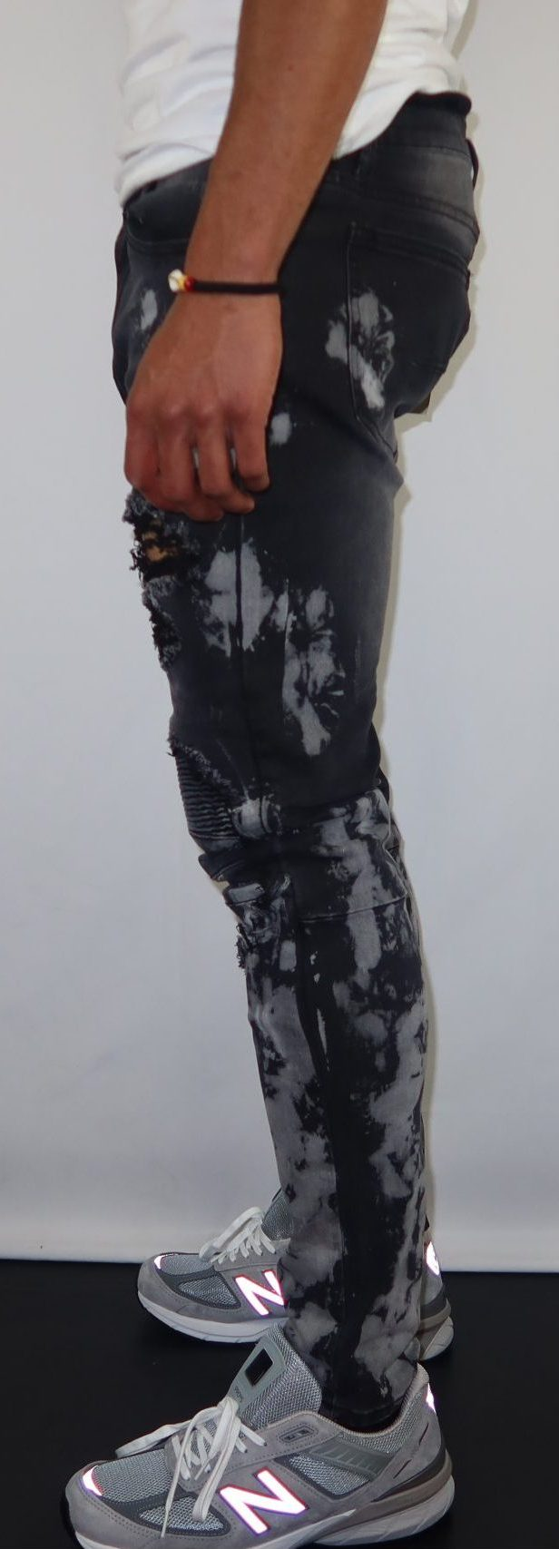 Bleach Spot patched Jeans