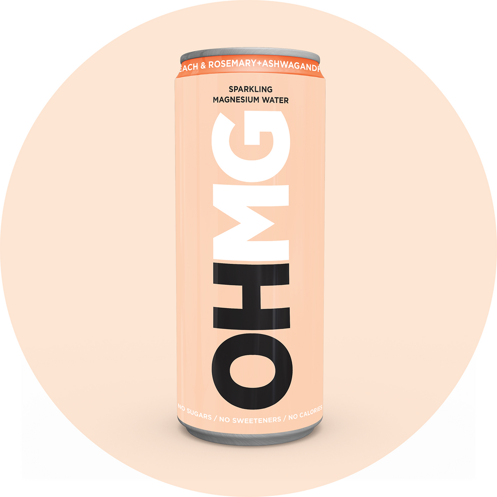 Can of OHMG Peach & Rosemary + Ashwagandha Functional Water