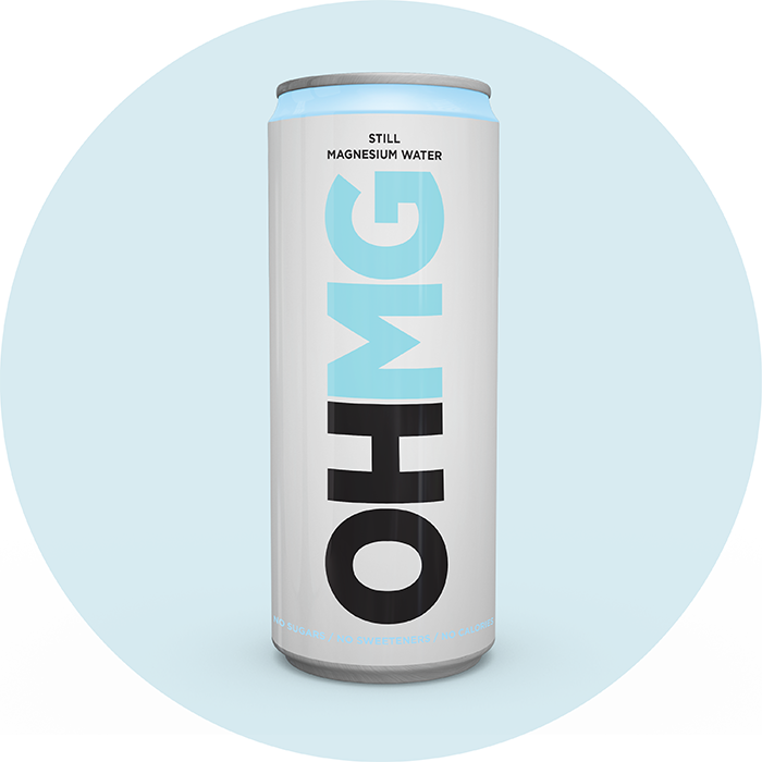 Can of OHMG Still Magnesium Functional Water mindfullness relax wellbeing
