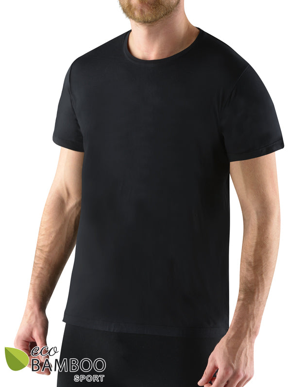 Eco Bamboo Sport Shirt for Men Black color
