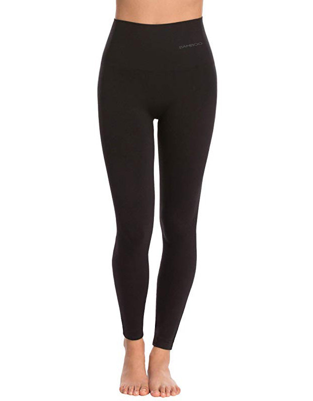 Women's Bamboo Leggings in Black color Eco Bamboo Sport collection