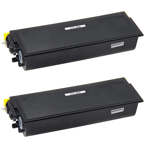 Compatible Brother TN460 Toner Cartridge - 2 Pack
