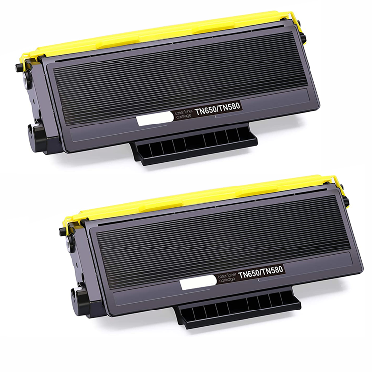 Brother TN580 Toner Cartridge - Black - 2 Pack