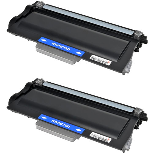 Compatible Brother TN750 Toner Cartridge - 2 Pack