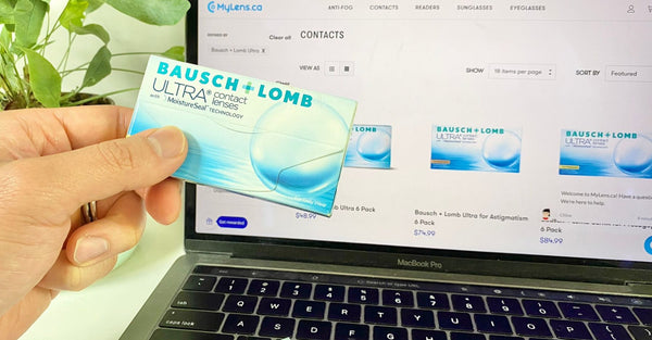 Where to find your contact lens brand on the box