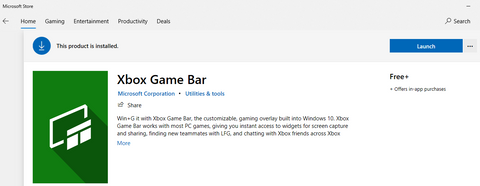 Then go to Microsoft Store and type the Xbox Game Bar in Search field to download or update it: