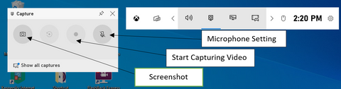Click on the Start Recording button (or Win + Alt + R) to begin capturing video