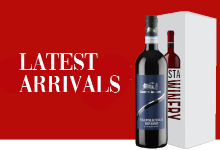 Banner of the latest arrivals of Vino on the InstaWinery online wine shop