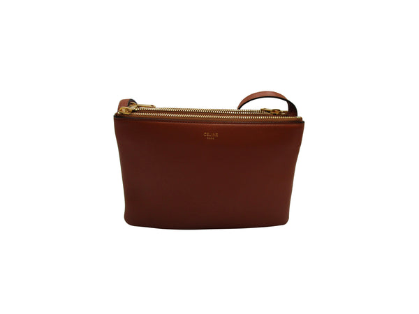Celine Trio Bag In Tan