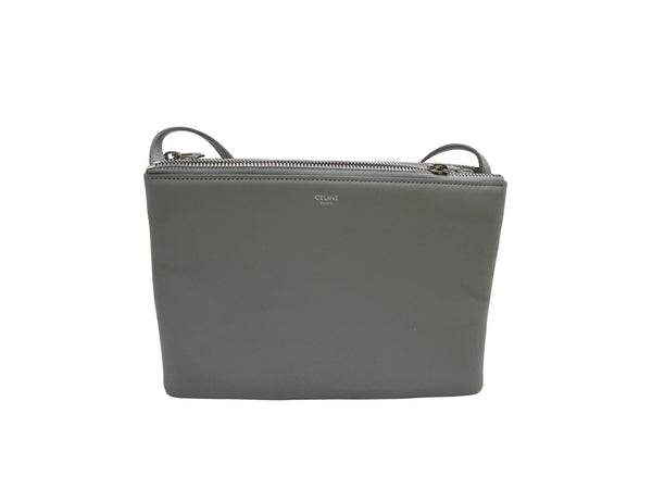 Celine Trio Bag In Light Grey