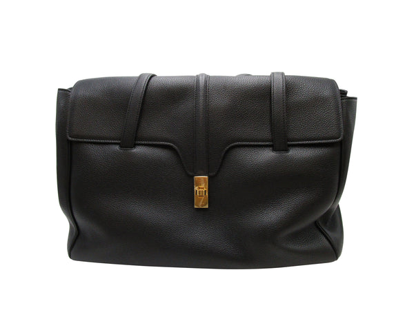 Celine Medium 16 Black  Grained Calfskin