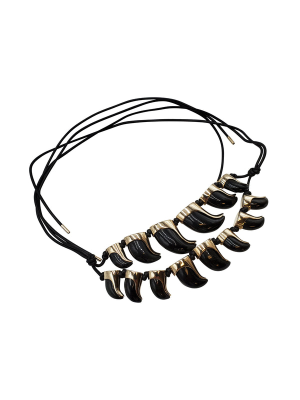 Balenciaga Black Double Layered Necklace - ACCESSX