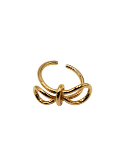 Balenciaga Gold Bow Ring - ACCESSX