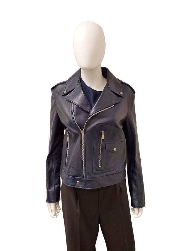 Dior Navy Leather Jacket