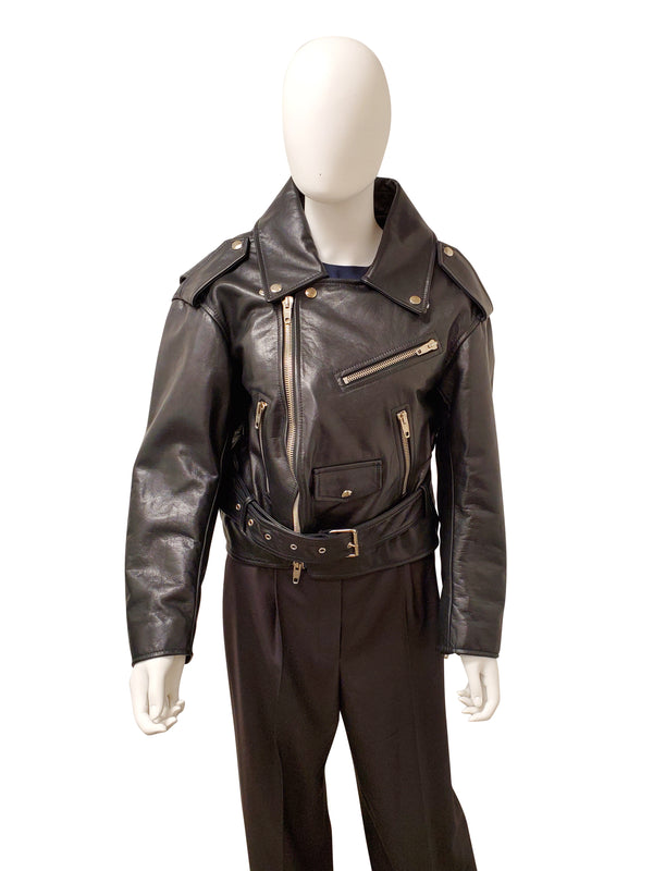 Balenciaga Swing Oversized Biker Jacket