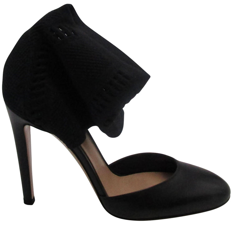 Gianvito Rossi Black Cut Out Low Heel