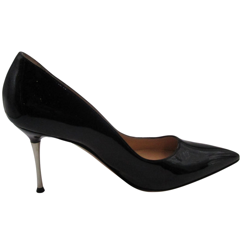 Gianvito Rossi Black Glossy Pointed Heels
