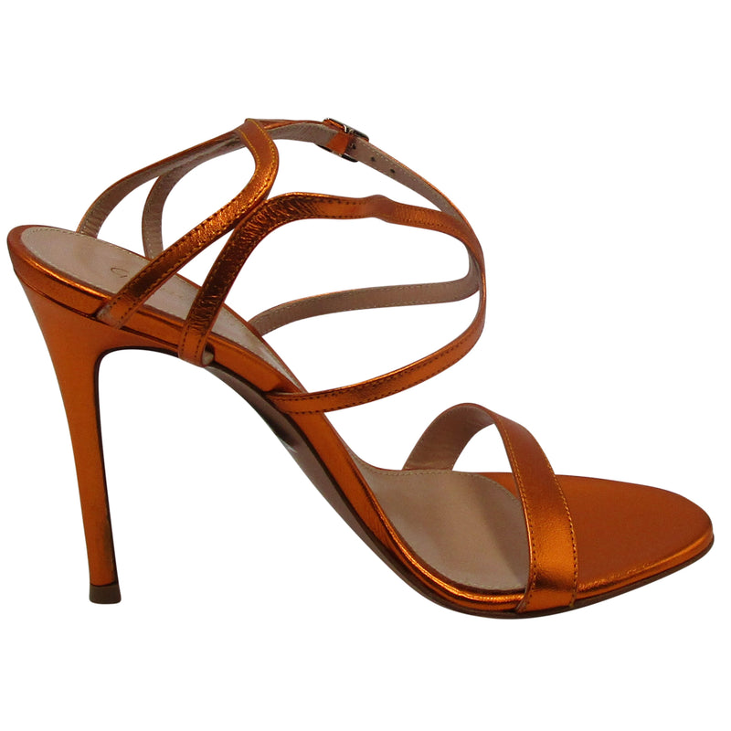 Gianvito Rossi Orange Strappy Heels