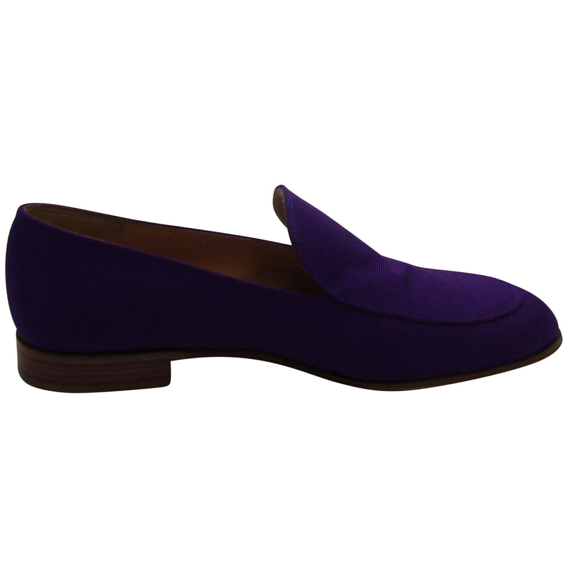 Gianvito Rossi Purple Loafers
