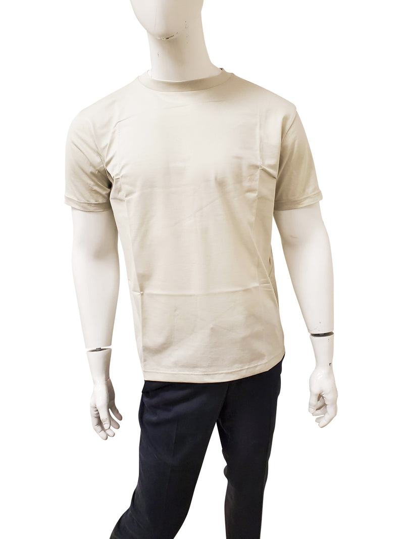 THE ROW T SHIRT IN LIGHT GREY / GREEN - ACCESSX