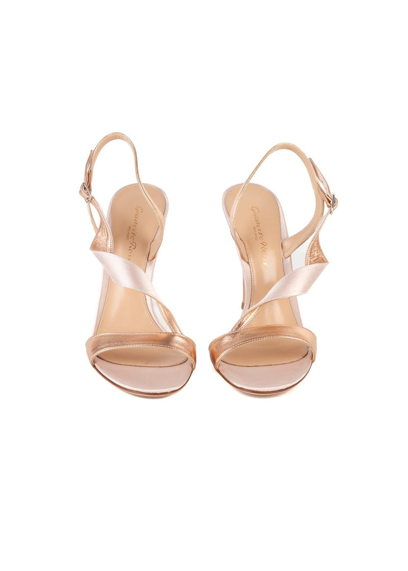Gianvito Rossi Womens 110 Pink Twist Sandals - ACCESSX