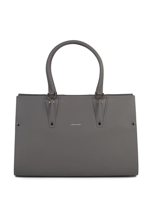 Longchamp Womens Grey Paris Premier Large Tote Bag - ACCESSX