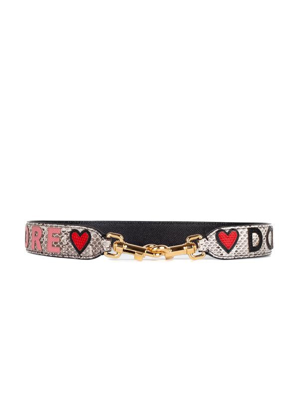 Dolce & Gabbana Womens Grey Dolce Amore Shoulder Strap - ACCESSX