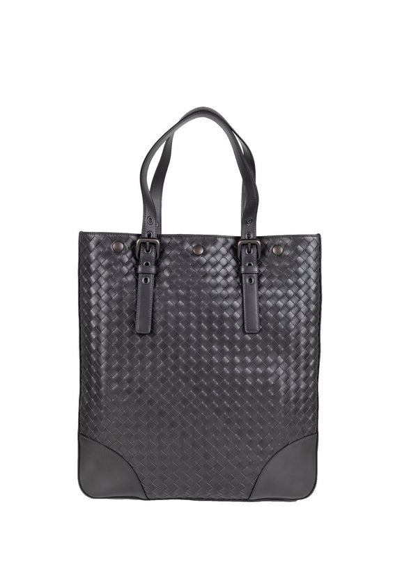 Bottega Veneta Intrecciato Gray Aquatre Bag - ACCESSX