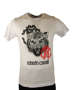 Roberto Cavalli Mens Cotton Graphic T Shirt