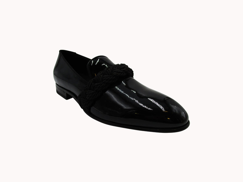 BALMAIN MIRROR EFFECT PATENT LEAHER LOAFERS - ACCESSX