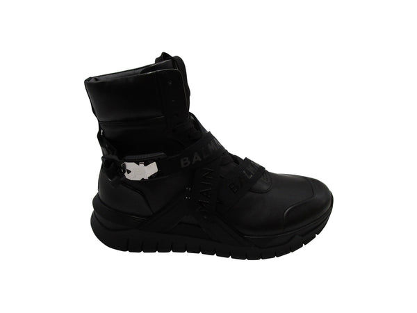 BALMAIN BLACK B-TROOP HIGH TOP SNEAKERS - ACCESSX