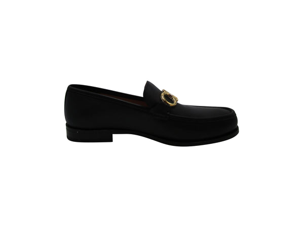 Salvatore Ferragamo Rolo Loafers in Black