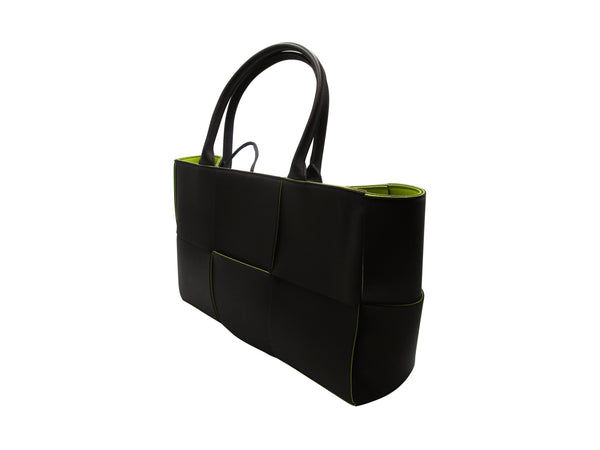 Bottega Veneta Arco Tote Bag in Black & Green
