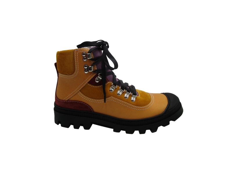 Loewe Mens Leather Hiking Boots in Multicolor