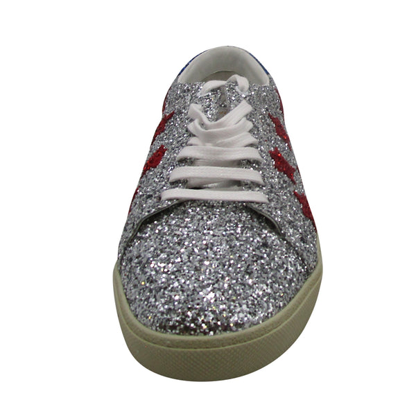 YSL Glitter Court Classic Low Top Sneaker