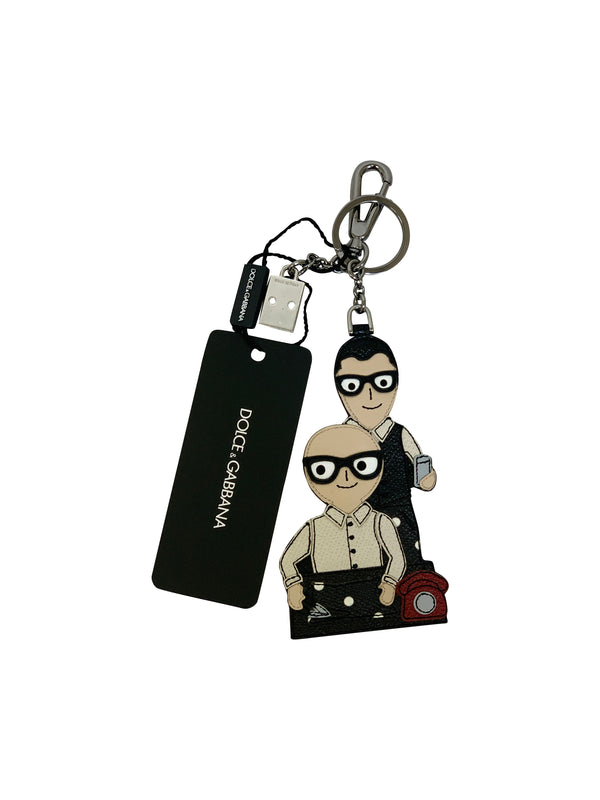 Dolce and Gabbana Mens Black Key Chain - ACCESSX