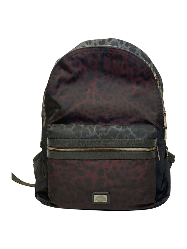 Dolce and Gabbana Red and Blue Print Backpack - ACCESSX