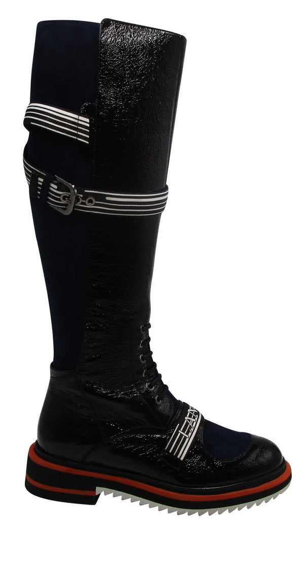 Lanvin Logo Lace-Up Boot