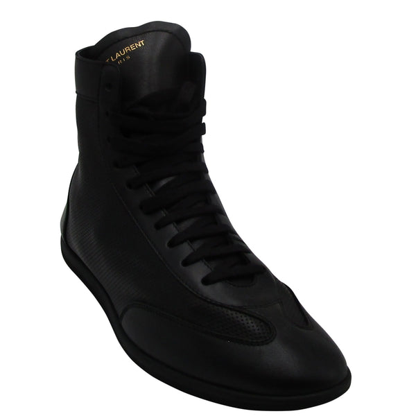 Yves Saint Laurent Men's Tonal Perforated Leather High-Top Sneakers