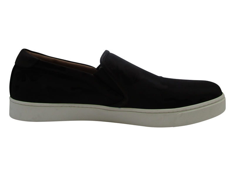 Gianvito Rossi Black Suede Slip On Sneakers