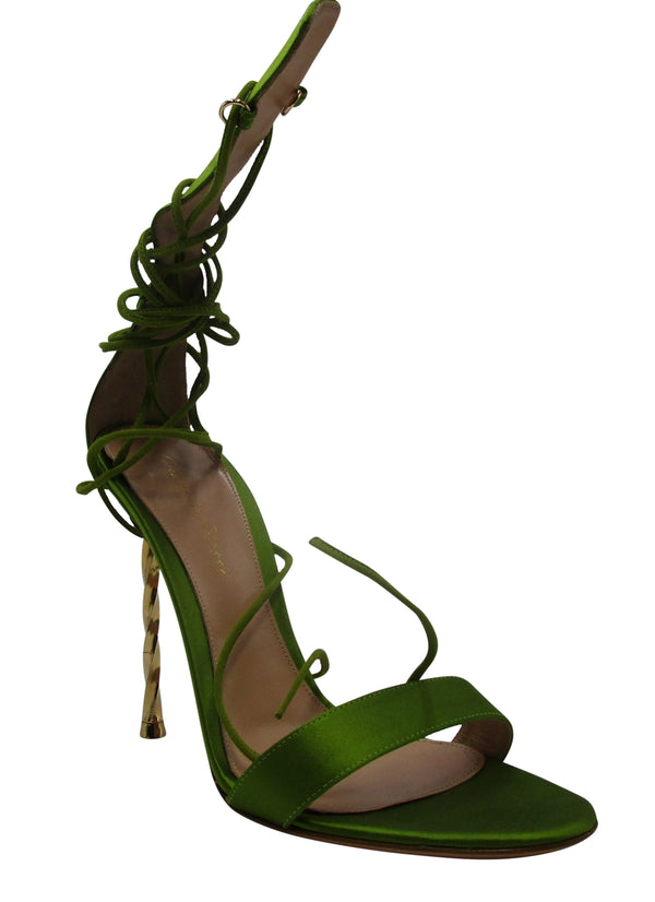 Gianvito Rossi Hunter Green Stiletto Heels