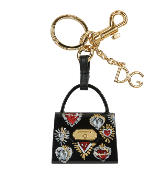 Dolce and Gabbana Womens Black Key Ring - ACCESSX