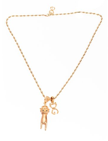 Dolce and Gabbana Gold Logo Necklace - ACCESSX